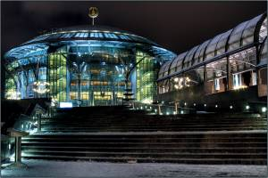 The international House of Music in Moscow.  A beautiful venue with wonderful acoustics where Three Mo' Tenors performed.