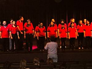 The Blind Choir of Asuncion performed for Three Mo' Tenors at the start of the master class.  Such beautiful voices performing intricate harmonies!