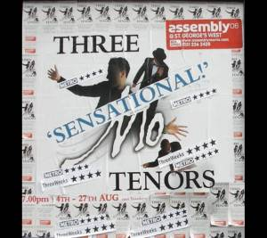 Poster of Edinburgh Festival Fringe where Three Mo' Tenors had the highest selling show.
